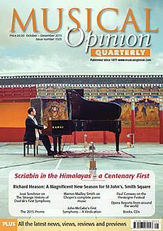 Musical Opinion cover